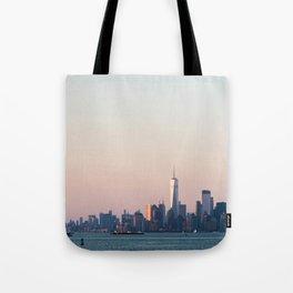 New York City Summer Sunset Skyline Tote Bag