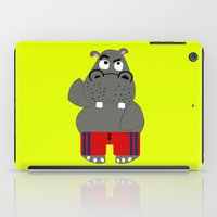 hippo iPad Cases featuring Hippo by lescapricesdefilles