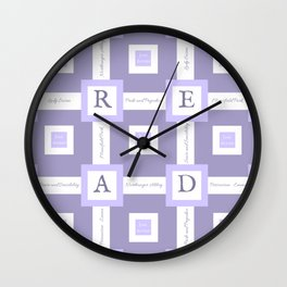 Read Jane Austen Wall Clock