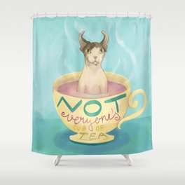 Not Everyone's Cup Of Tea - Sphynx Cat - Part 5 Shower Curtain