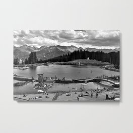 adventure park hög alps serfaus fiss ladis tyrol austria europe black white Metal Print