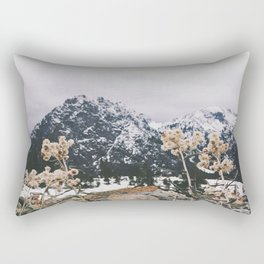 Mountains + Flowers Rectangular Pillow