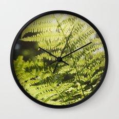 Sun leaf Wall Clock