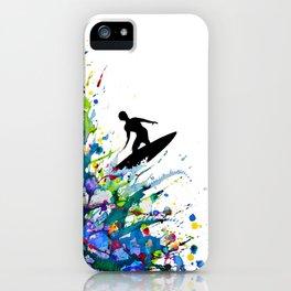 A Pollock's Point Break iPhone Case