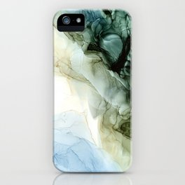 Land and Sky Abstract Landscape Painting iPhone Case