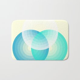 Three colour circles inverted, inspired by Lacouture's Répertoire chromatique Bath Mat