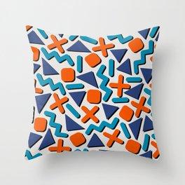 90s Retro Memphis Pattern Throw Pillow