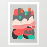 n7 Art Prints featuring Abstract n7 by HaloCalo