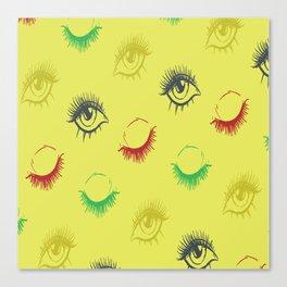 Eye lashes Canvas Print