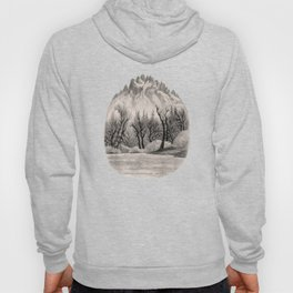 SKAGIT RIVER IN THE NORTH CASCADE CHARCOAL DRAWING Hoody
