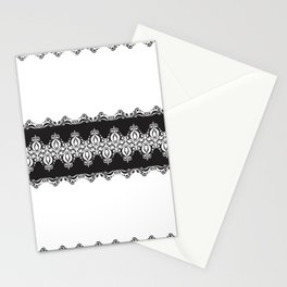 Floral Lace Border Stationery Cards