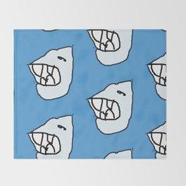 Sharksea by Si Throw Blanket
