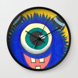 Monster and his cupcake Wall Clock