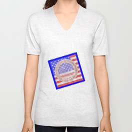 Stars And Stripes Condom Unisex V-Neck