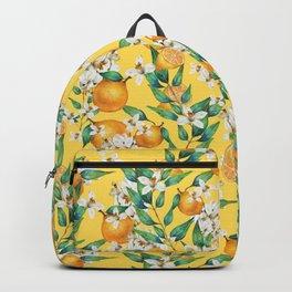 Lemon and lemon flowers blossom - YBG Backpack