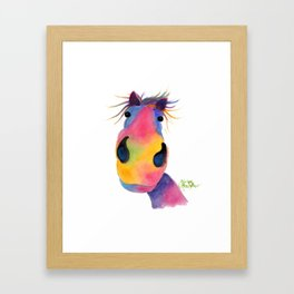 Happy Horse ' PeNeLOPE PiMMs ' by Shirley MacArthur Framed Art Print