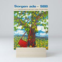 Old sbb sorgen ade a affiche Mini Art Print