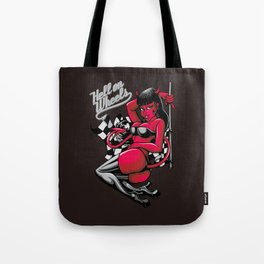 Devil Pin-Up Girl - Hell on Wheels Tote Bag