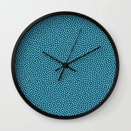 Little Dots Dark Blue Wall Clock