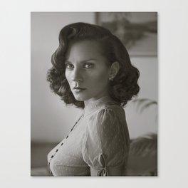 Dotty Blouse Portrait Canvas Print