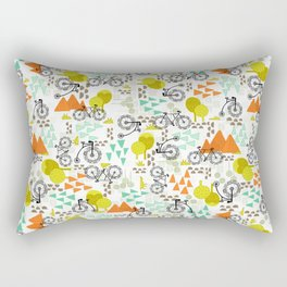 Whimsical Bike Around Rectangular Pillow