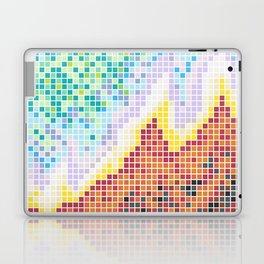 Pixelated Nebula Red Laptop & iPad Skin