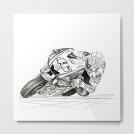 The Bike Hand Sketched Metal Print