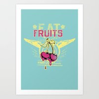 fruits Art Prints featuring Fruits by Tshirt-Factory