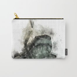 The Grey Smiling Shark Carry-All Pouch