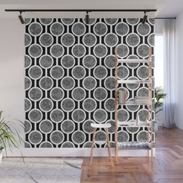 Retro-Delight - Simple Circles (Laced) - Black Wall Mural