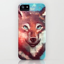 Wolf - Stare - Wanderlust iPhone Case