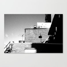 Shadows & Rooftops Canvas Print
