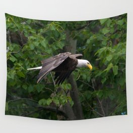 RIVER EAGLE Wall Tapestry