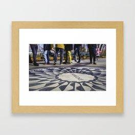 Imagine All the People... Framed Art Print