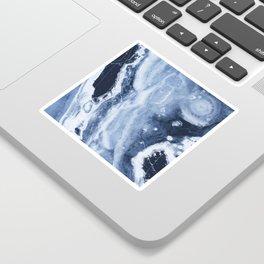 Marble Ice Indigo Sticker