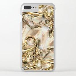 GOLD SWIRLS Clear iPhone Case