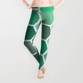 green shifts hex Leggings