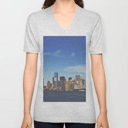 Manhattan Skyline Unisex V-Neck