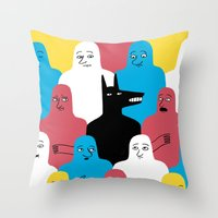 wolf Throw Pillows featuring A Wolf by Jack Teagle