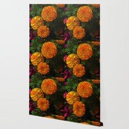 Large Marigolds Wallpaper