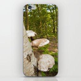 Forest wild mushrooms iPhone Skin