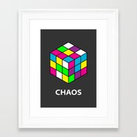 chaos Framed Art Prints featuring Chaos by Dizzy Moments