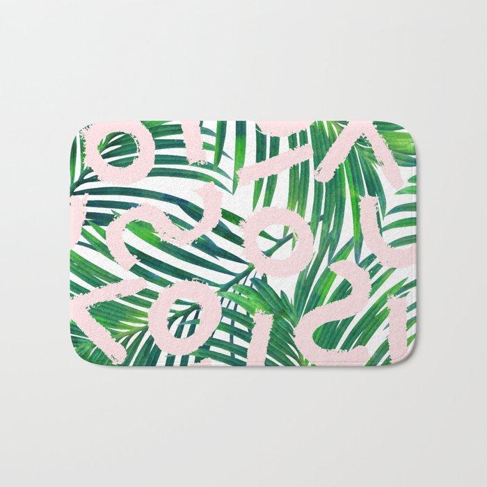 Palm Blabber #society6 #decor #buyart Bath Mat