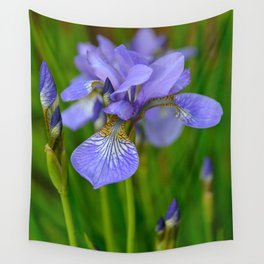 Siberian Iris by Teresa Thompson Wall Tapestry