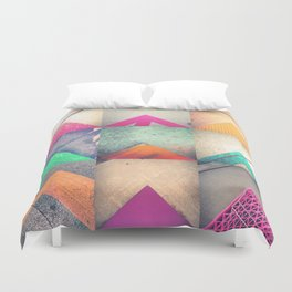 Bright Triangles Duvet Cover