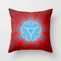 ironman Throw Pillows featuring Ironman by Some_Designs