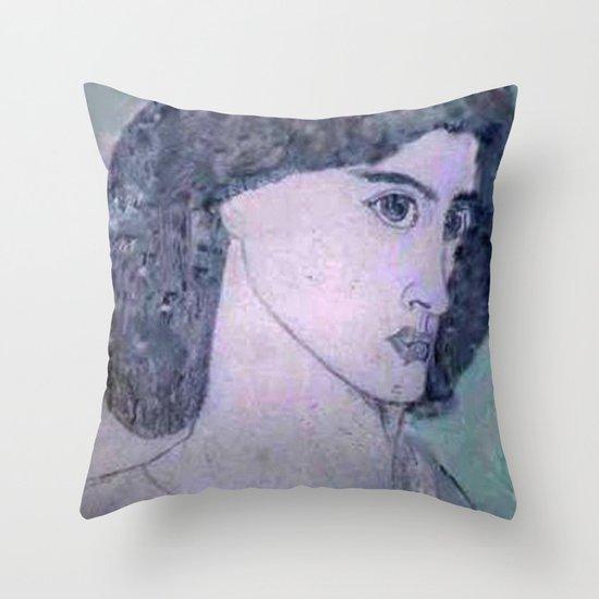 JANE BURDEN STUDY Throw Pillow