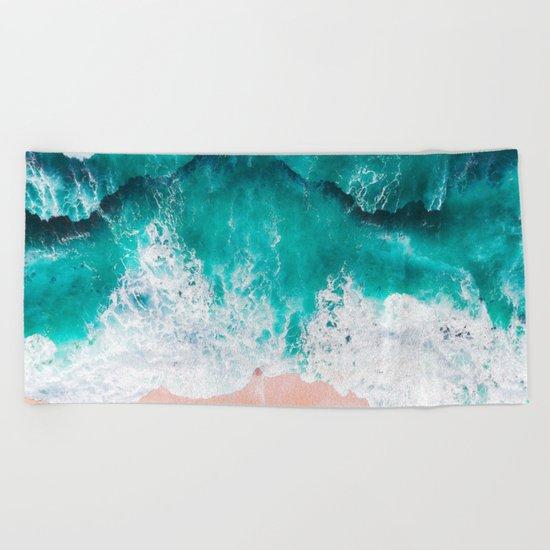 Ocean adventures -drone Beach Towel