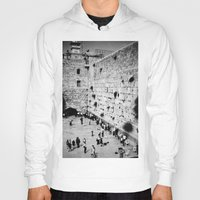 western Hoodies featuring Western Wall by Emily Lewin