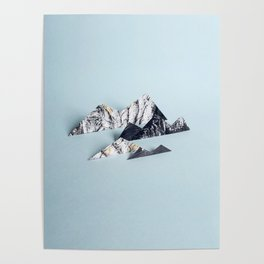 Paper mountains Poster